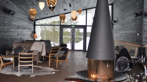 Artic TreeHouse Hotel. Artic Circle. Rovaniemi, Finland.
