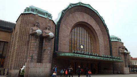 Rautatieasema Railway Station. Helsinki, Finlandia.