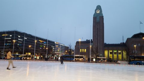 Ice Rink, Helsinki, Finland.